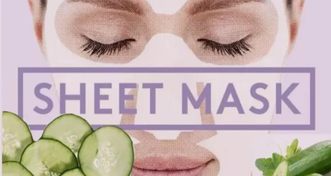 DIY cucumber sheet mask at home on a budget