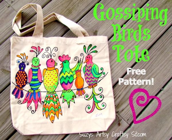 How to make a Bright Summer Beach Tote – Free pattern!