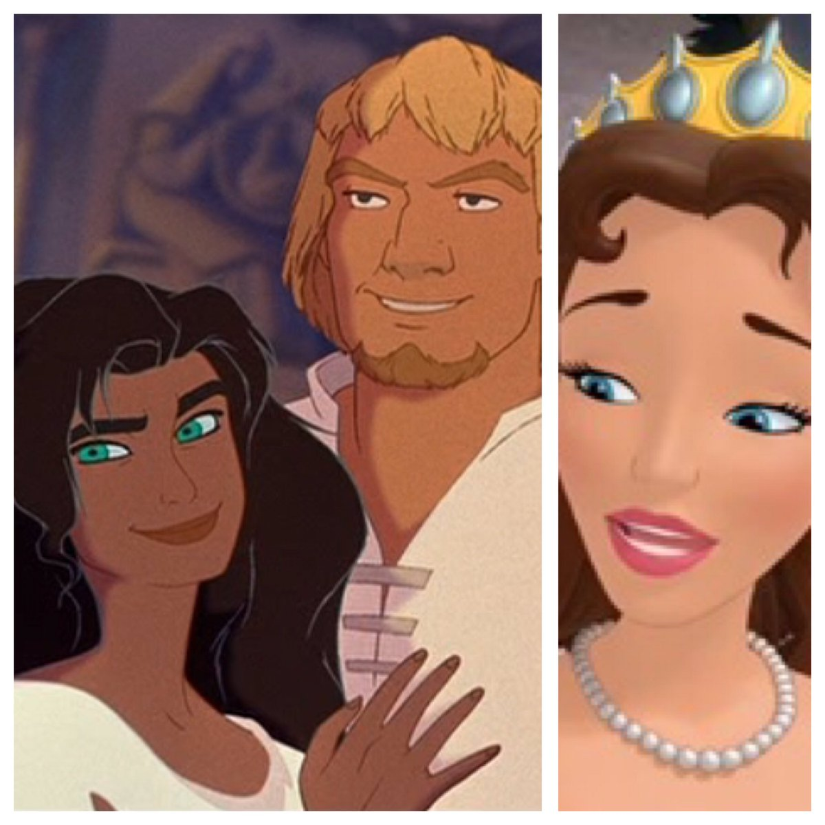 Queen Miranda could almost be Esmeralda and Phoebus&#39; daughter if they made it out of the bone-zone. #InstantFanTheory #Disney #SofiaTheFirst<br>http://pic.twitter.com/AugmZVTipL