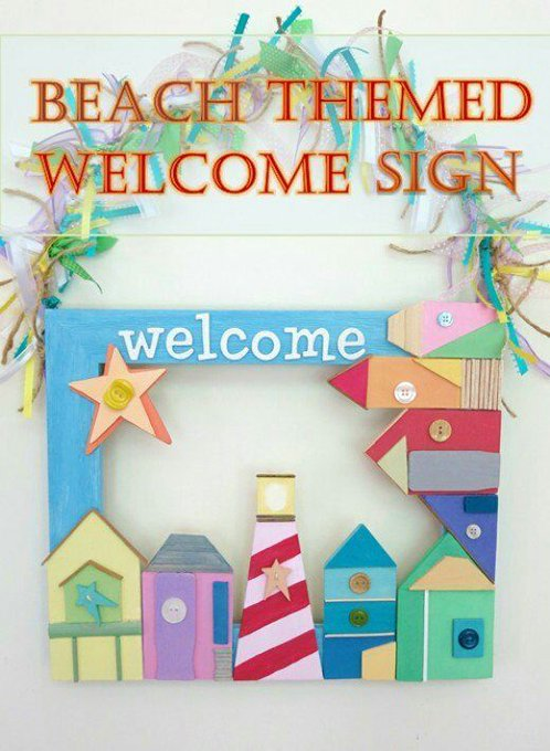 Beach Themed Welcome Sign