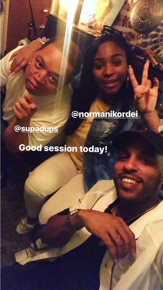 Dope session today @NormaniKordei @SupaDups https://t.co/d1aDqMtCpI