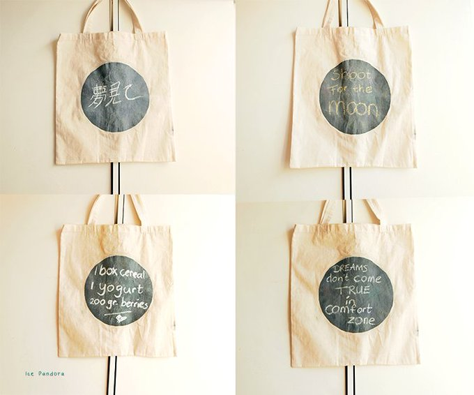 DIY: Chalkboard Canvas bag!