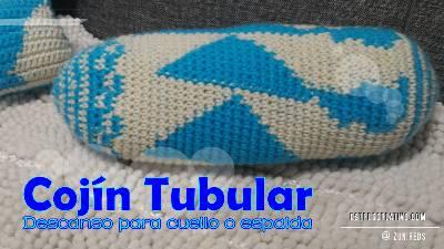 Cojín Tubular #Crochet – Estrés Creativo