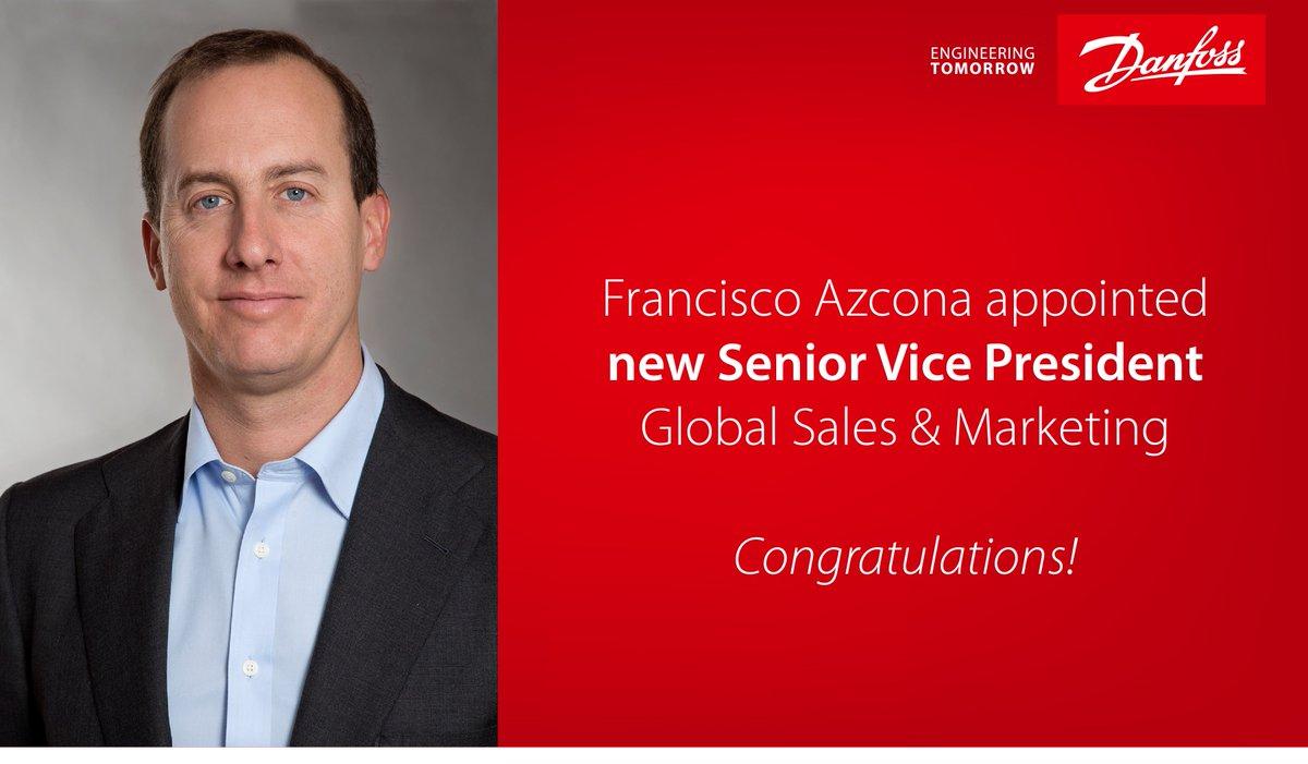 Francisco Azcona has been appointed Senior Vice President Global Sales & Marketing in the Danfoss Heating Segment. Congratulations! https://t.co/wdjACtJTJE