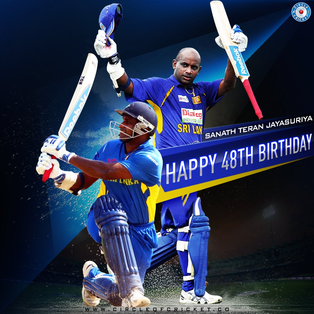 The only cricketer in ODI cricket with over 13,000 runs and 300 wickets. Happy birthday, Sanath Jayasuriya