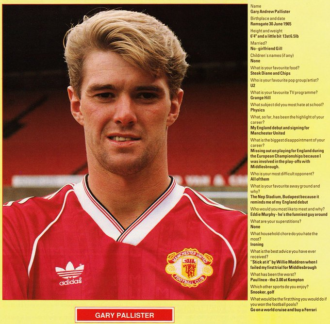 Happy Birthday Gary Pallister (52)