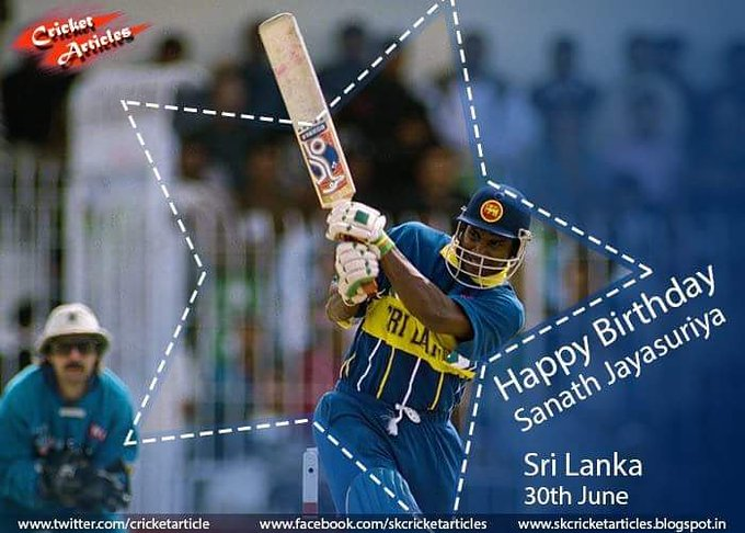 Happy Birthday to former Sri Lanka captain & opener Sanath Jayasuriya