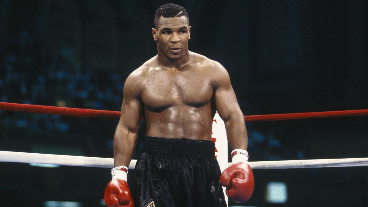 "Happy 51st bday to ""Iron\"" Mike Tyson, who struck fear in every opponent he fought in the mid/late 80s"