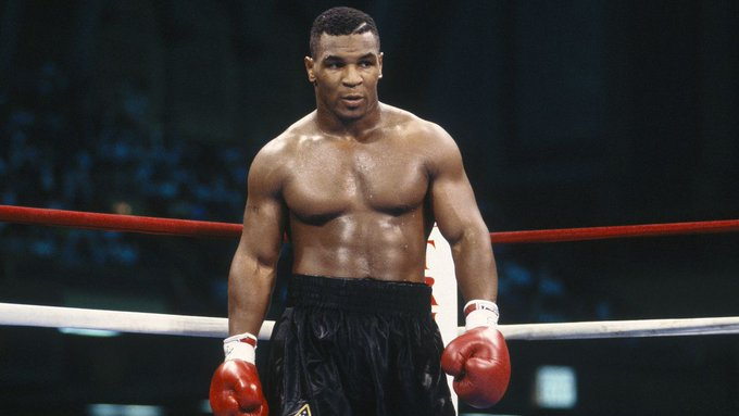 """Happy 51st bday to \""""Iron\"""" Mike Tyson, who struck fear in every opponent he fought in the mid/late 80s"""