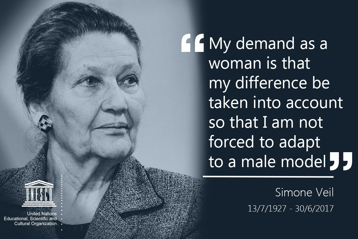 Tribute to Simone Veil, a champion of the struggle for women's rights and the construction of Europe https://t.co/T5XwlMTnjv