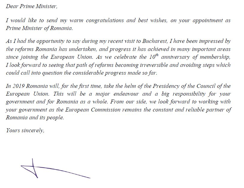 Jean Claude Juncker On Twitter Congratulations Mihai Tudose We