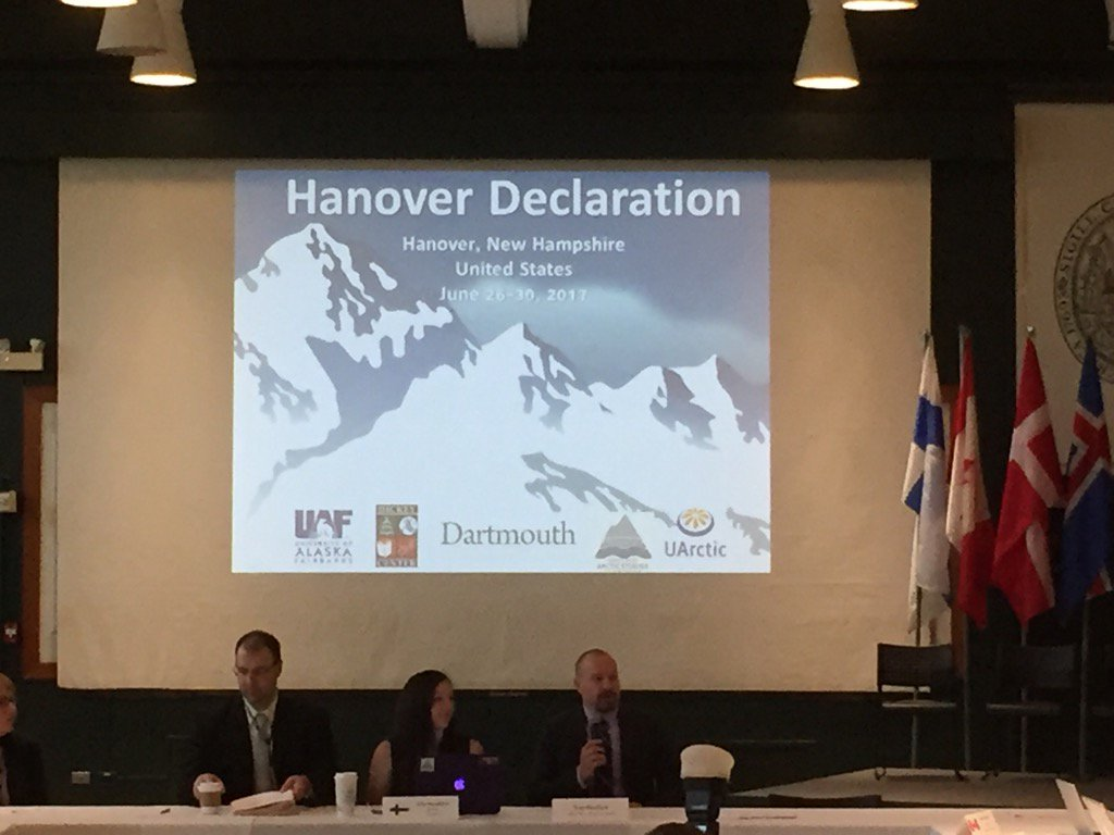 Model Arctic Council Ministerial @dartmouth w/ Finland introducing the Hanover Declaration. @uarctic @USArctic https://t.co/LoxEjQkIPE