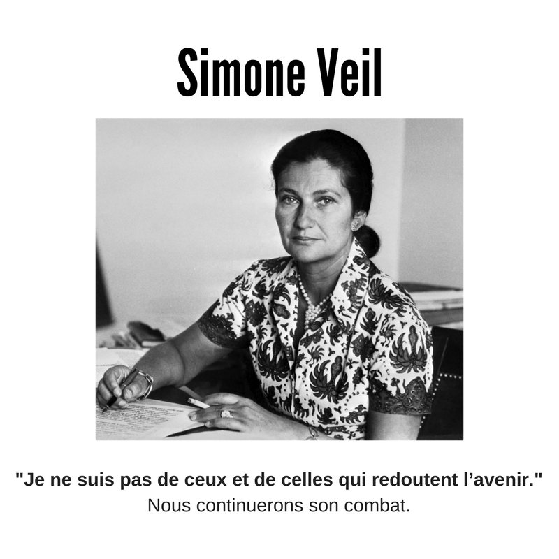 A une grande dame, les féministes reconnaissantes. Le combat pour l'#avortement libre, la force de Simone Veil dans la vie publique. Merci. https://t.co/6slwoq0w1C