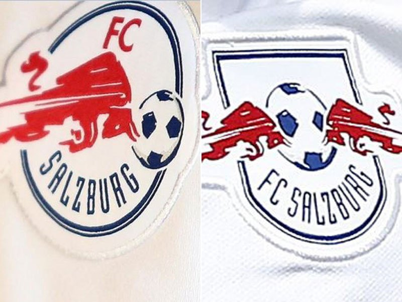 Daniel Nyari On Twitter Red Bull Salzburg Had To Change Its Logo Upon Entering Champions League Competition To Avoid Similarities With Sister Club Rb Leipzig Https T Co Ch1eyt54sj