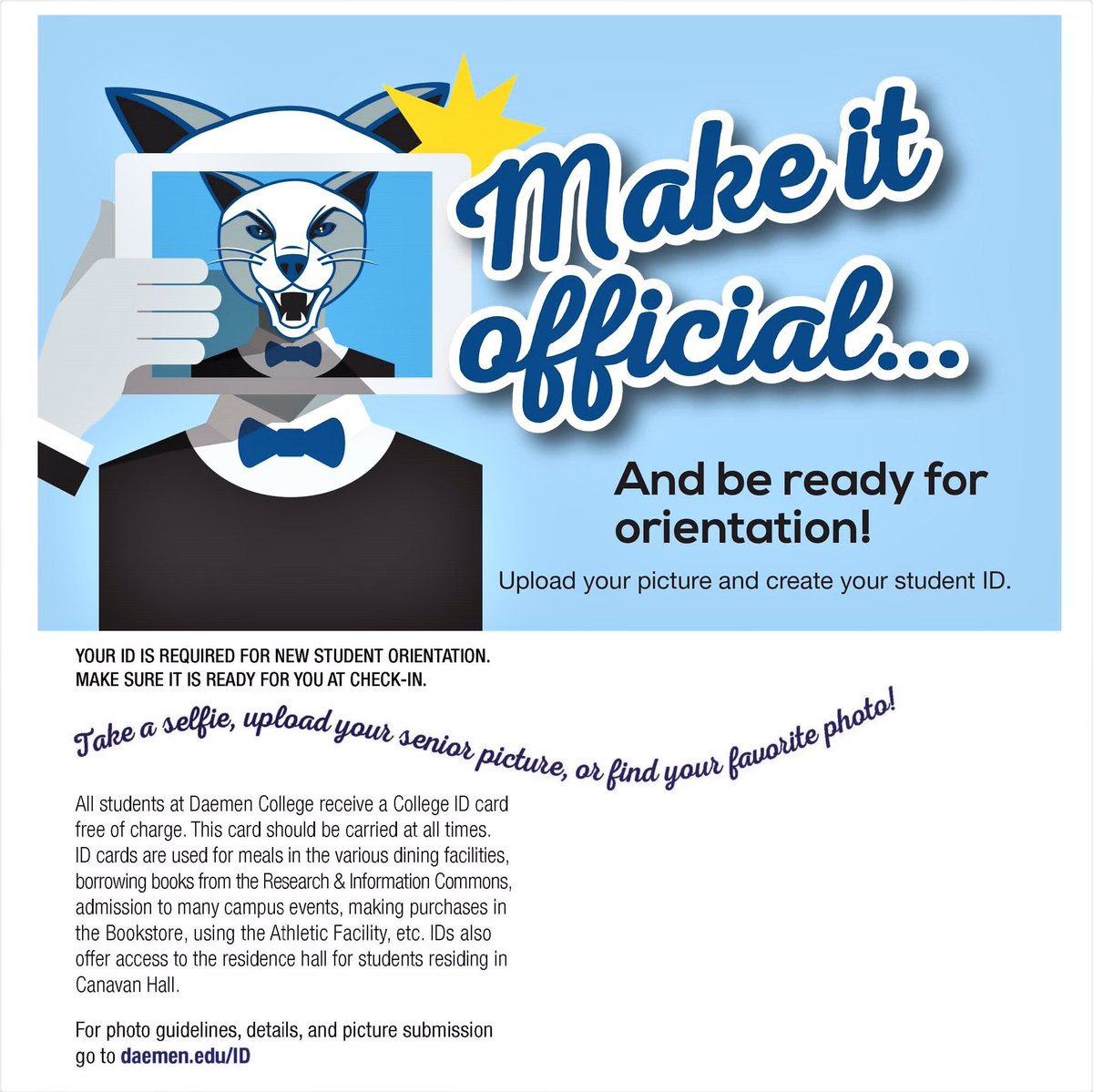 Guidelines for submitting a photo for your id card - Daemen Orientation On Twitter New Students Submit Your Id Picture Today Go To Https T Co Re2fkbbnyj Dcorient17 Https T Co Vshxqjhaex
