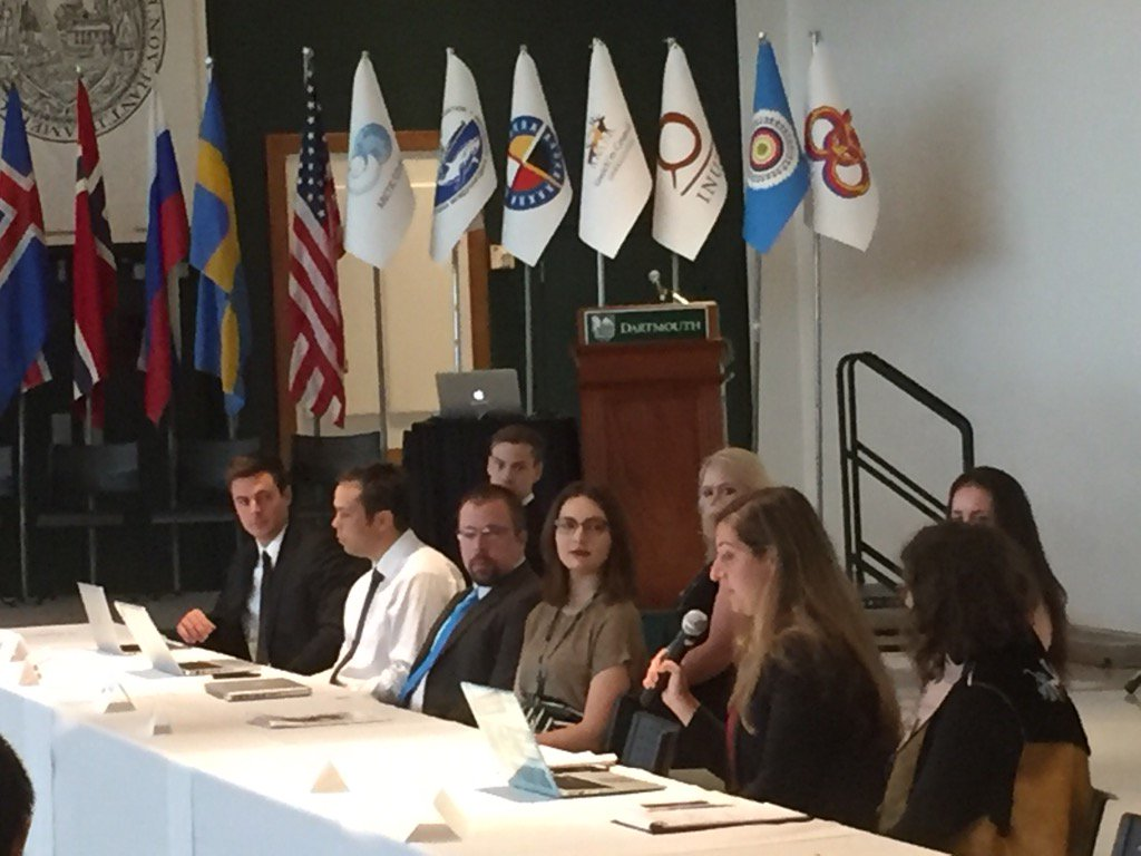 Model @ArcticCouncil @dartmouth Permanent Participants speak to affirm imp of climate change, land and youth https://t.co/c5WhiYlziP