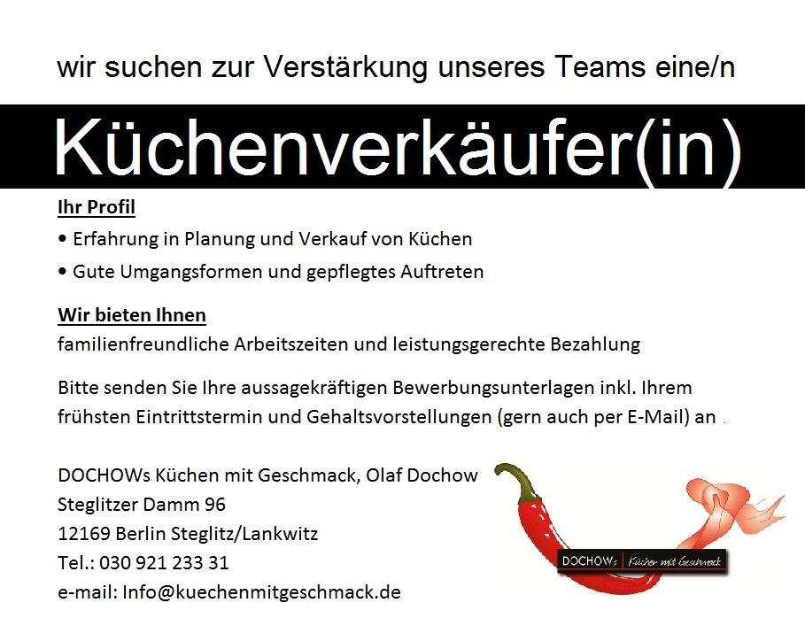 Küchenverkäufer gesucht  DOCHOW s Küchen (@DochowBerlin) | Twitter