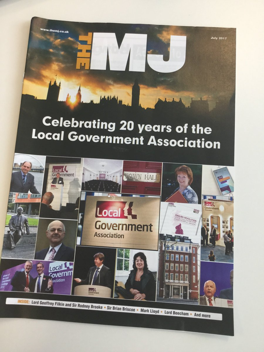 Lovely to receive this excellent supplement in @themjcouk celebrating 20 years of the #LGA #localgov