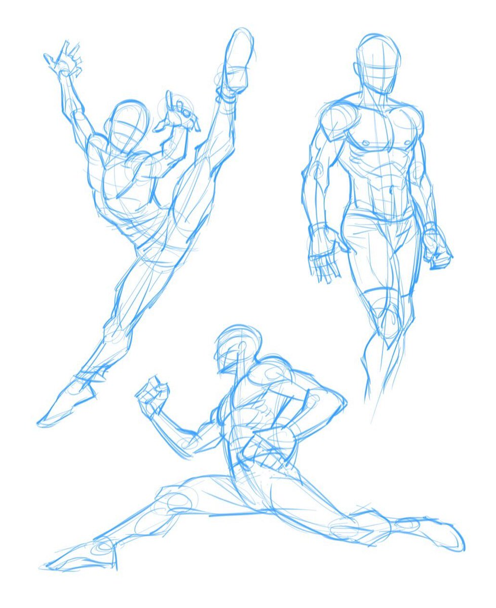 Kyle petchock art on twitter some quick dynamic action pose warm up sketches 😊 figuredrawing sketch sketches autodesksketchbook art illustration