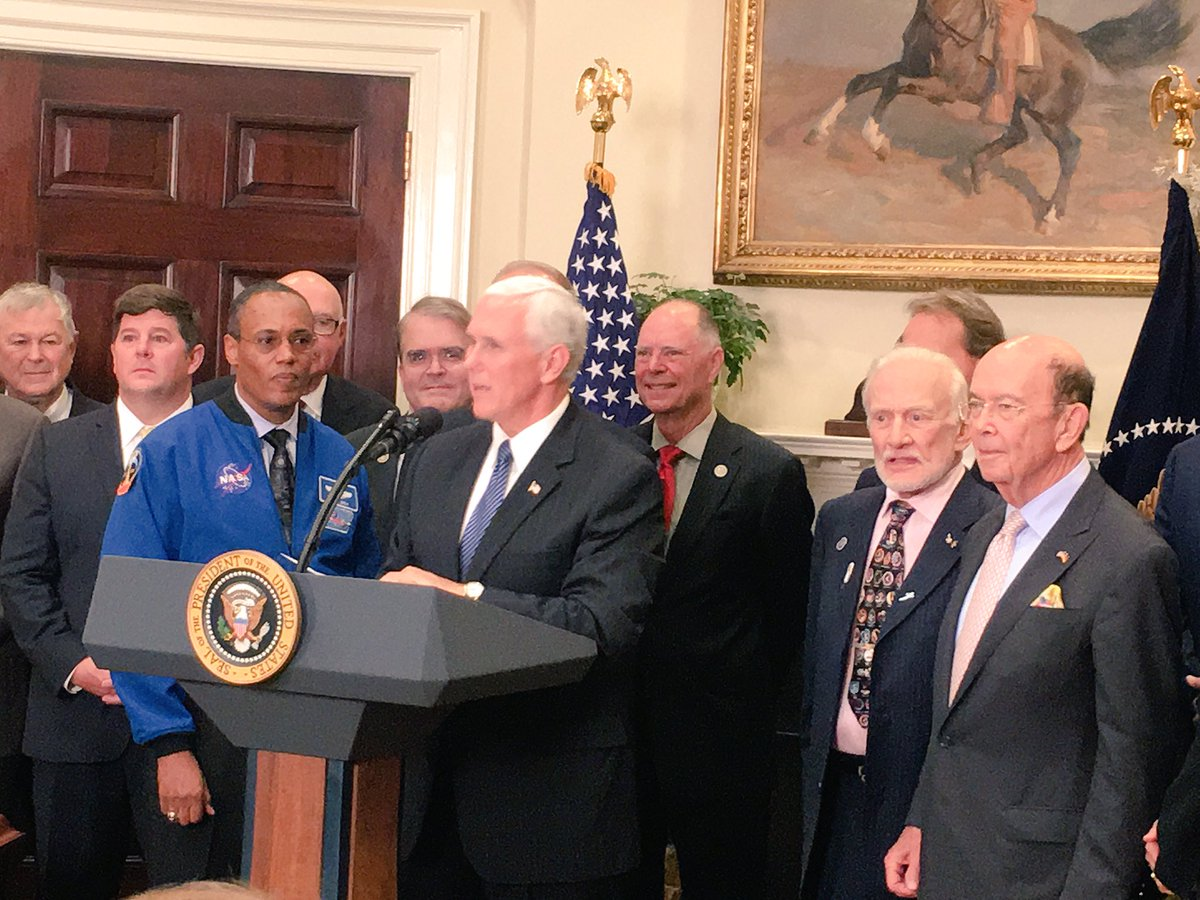 Buzz Aldrin Looked As Baffled As We Felt During Trump's Space Talk