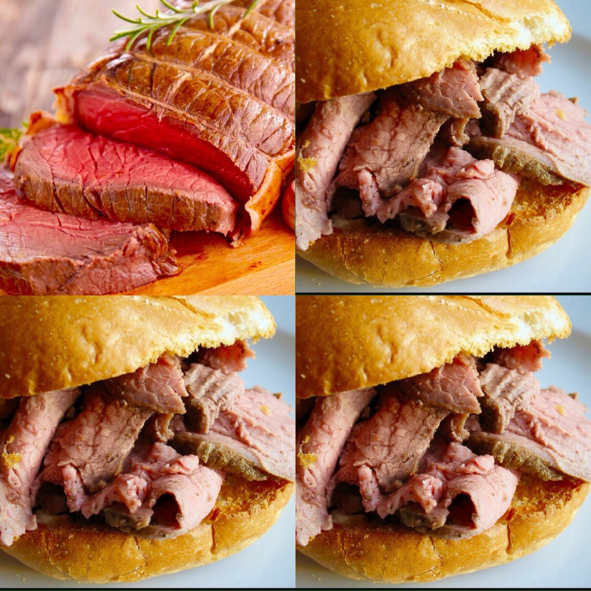 Hot Roast Beef with Mustard