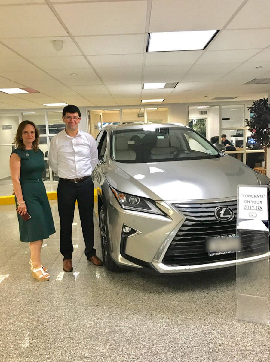 lexus of manhattan on twitter congratulations mr sisman interested in this or any other model comment for info lexusrx lexusofmanhattan nyc bigapple lexus https t co rpivsmp1rj twitter