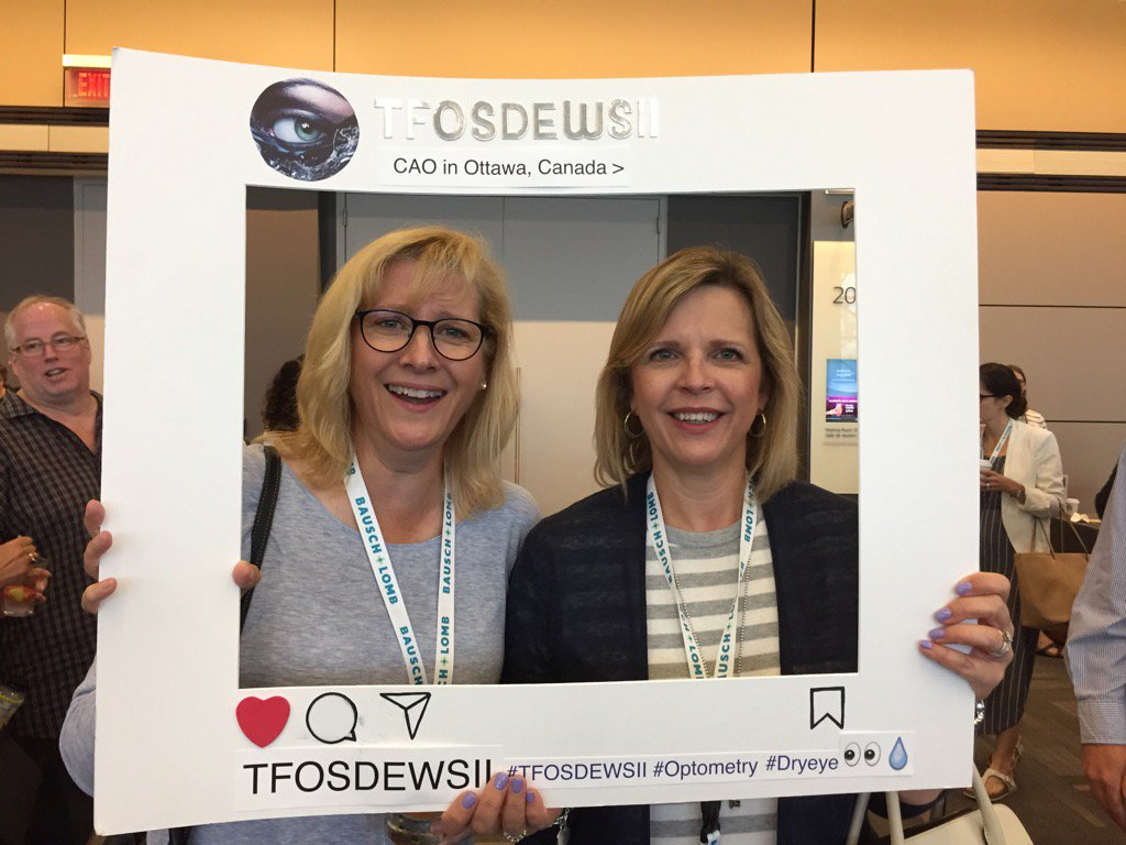 #Optometrists Drs Morland (North Bay) and Konietzny (Ottawa) meet up at the #CAO2017 @CanadianOpto @Eyeppl #dryeye<br>http://pic.twitter.com/WeQYFLZ02E