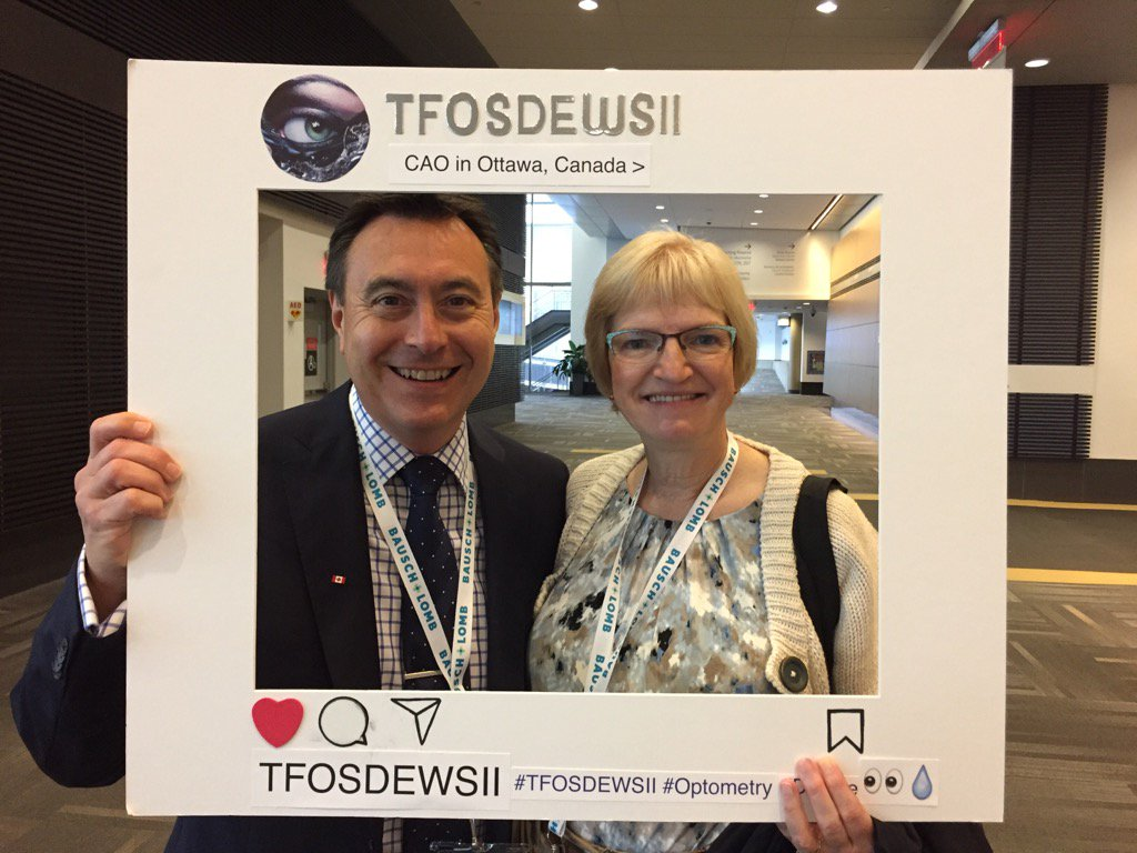 Dr Lyndon Jones with past president Dr Linton at #CAO2017 talking about #TFOSDEWSII @Eyeppl @lwj_63 @CanadianOpto<br>http://pic.twitter.com/pL7ptrEv9b