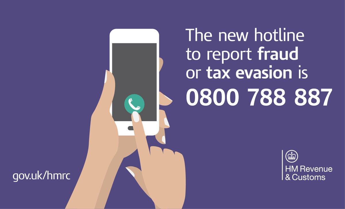 Hm Revenue Customs On Twitter You Can Report Tax Fraud Or Evasion Any Time In Confidence By Calling Our New Hotline Or Using This Form Https T Co 04bcvbfut1 Https T Co Wiy417jzmo