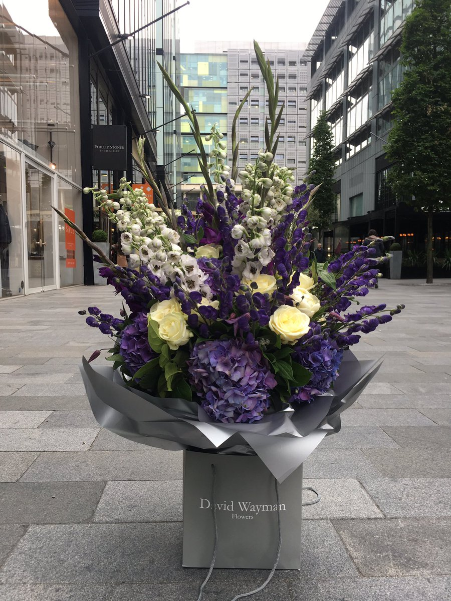 David Wayman Flowers On Twitter Purple And Cream Bouquet