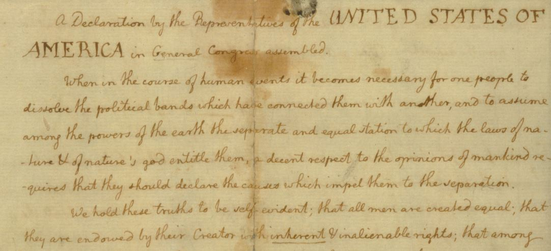 the purpose behind the declaration of independence in america