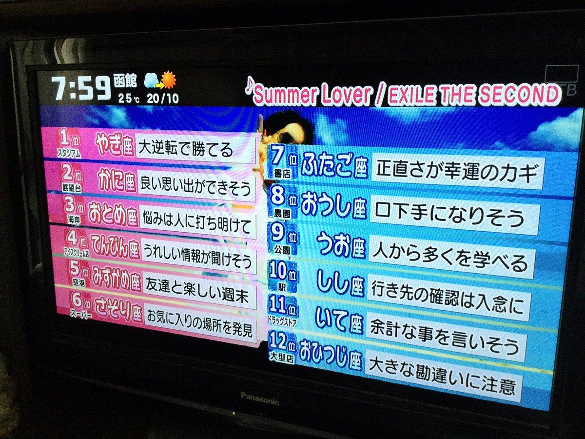 あさ チャン 占い 番組紹介 TBSテレビ:あさチャン!