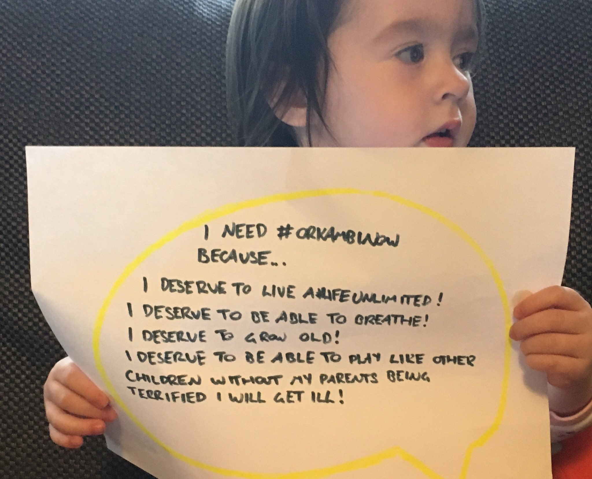 @daraobriain my daughter needs orkambi to treat her cf but its too expensive. Could you send your minions out to get orkambi #OrkambiNow https://t.co/yW3pKmkpPV