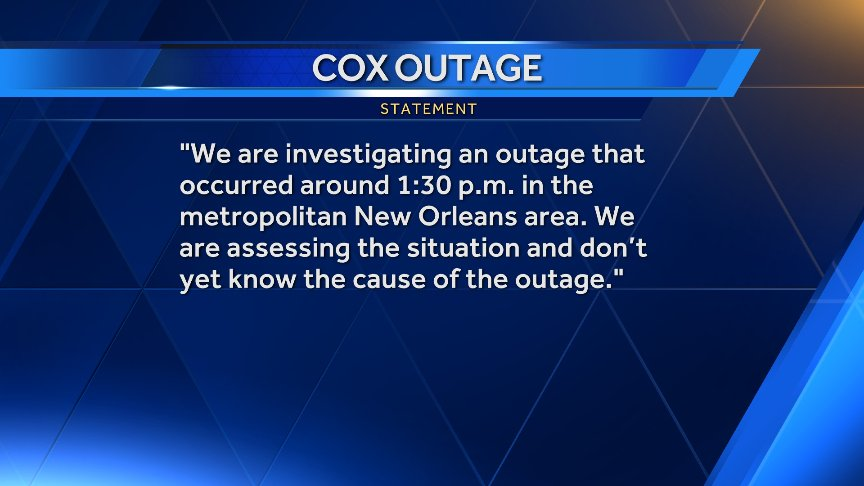 Louisiana loses it over Cox Internet outage
