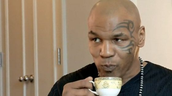 Tea drinkers come in all shapes and sizes! Happy Birthday Mike Tyson