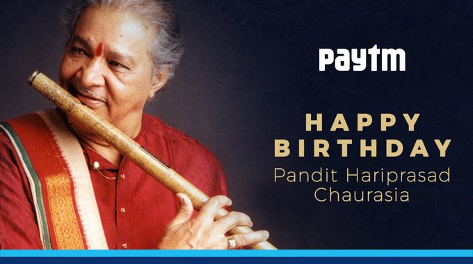 A very Happy Birthday to the musical maestro, Indian classical flautist, Pandit Hariprasad Chaurasia