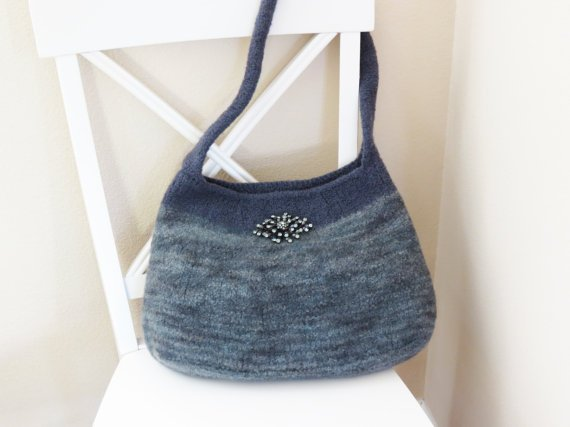 Knit Bag Pattern, Felted Purse Pattern, Felted Purse, Knitted Purse, Knitting Pattern, Knit Bag, Autumn Evening