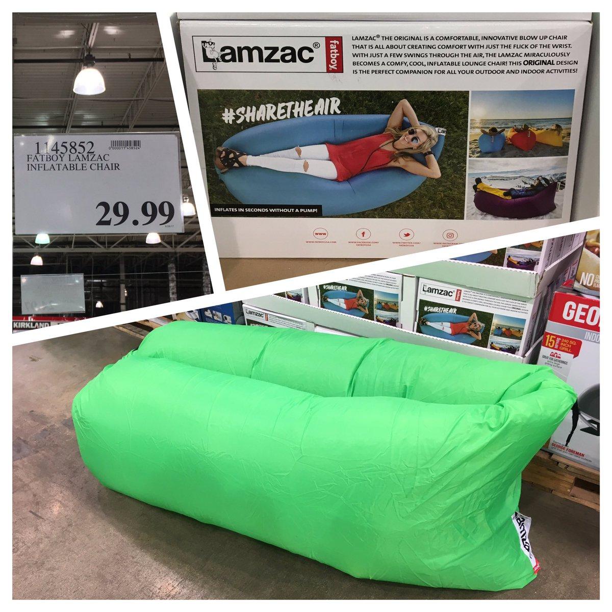 TheCostcoConnoisseur On Twitter FridayFinds Save 50 Off Retail Price FatboyUSA Lamzac Original Inflatable Lounge Chair Costco Lamzactheoriginal