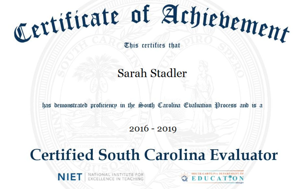 Sarah Stadler On Twitter Guess Who Is Sc Evaluator Certified