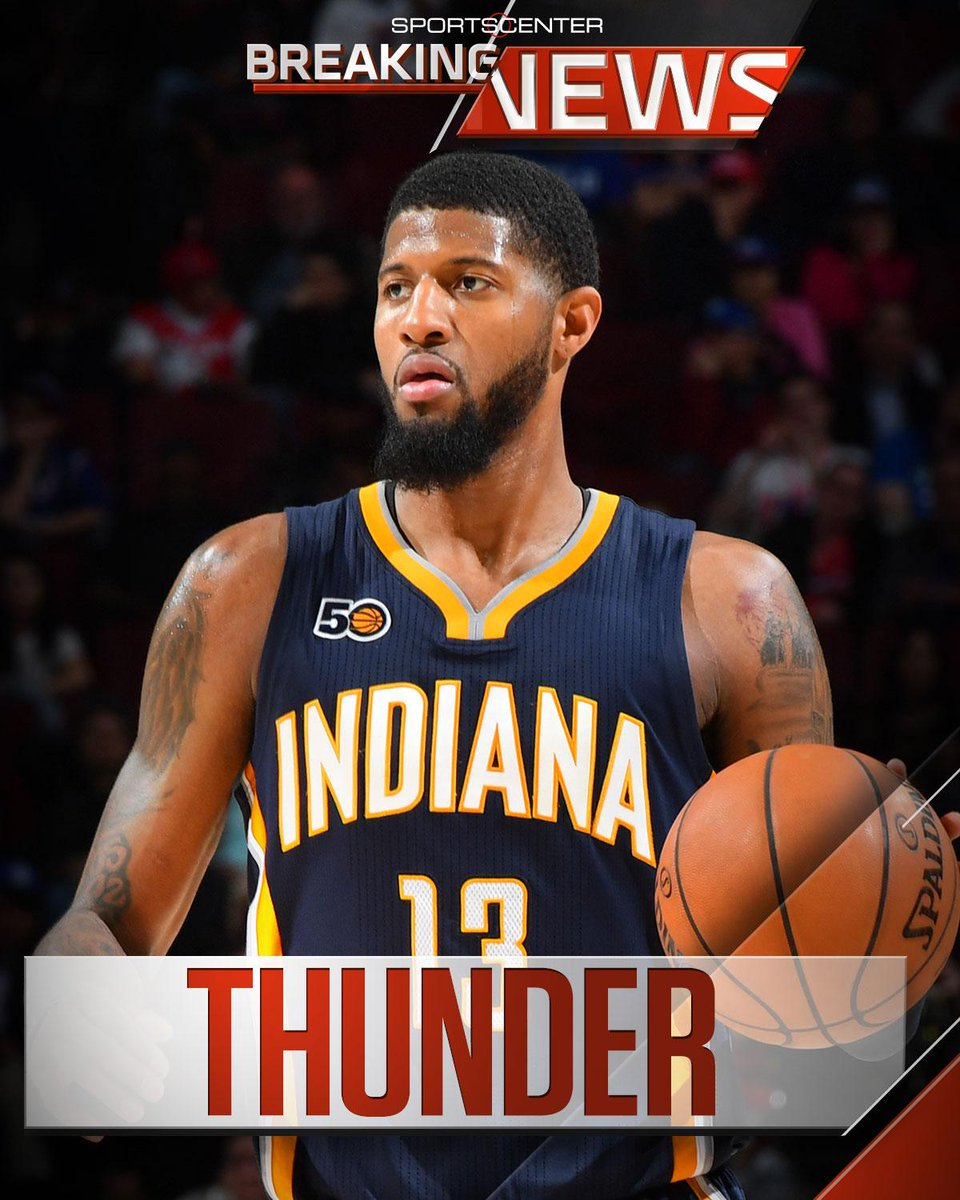 Breaking: Paul George has been traded to the Oklahoma City Thunder, sources tell @ramonashelburne.