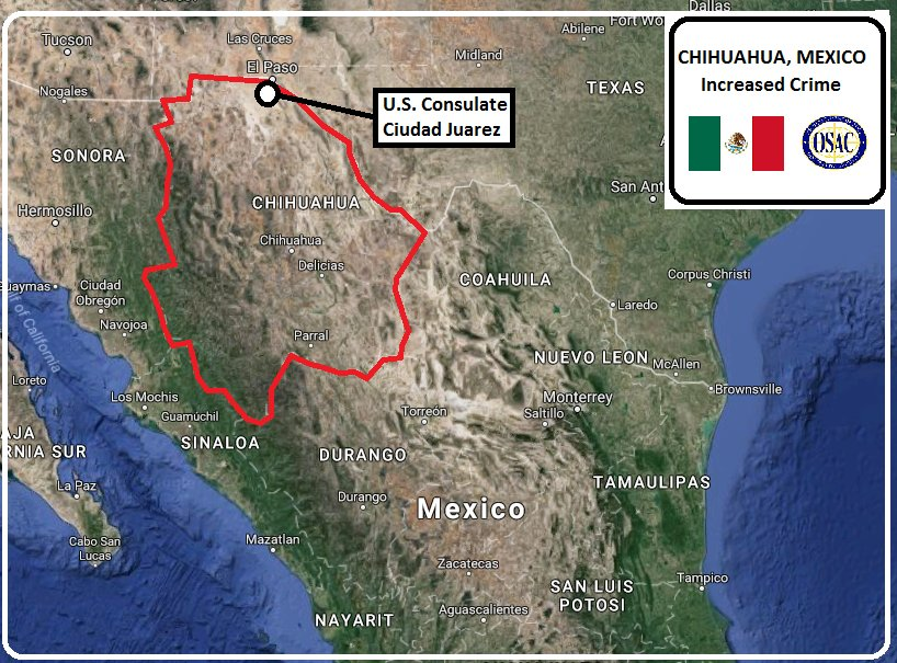 Osac On Twitter Mexico Security Message From Us Consulate In - Us-consulates-in-mexico-map