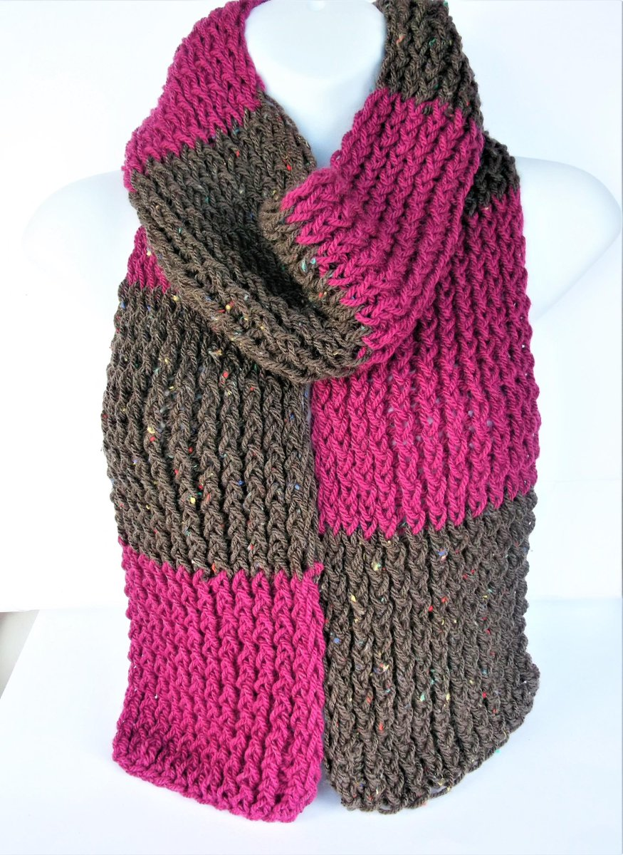 lelsloom on twitter pink and brown scarf boho knitted scarf