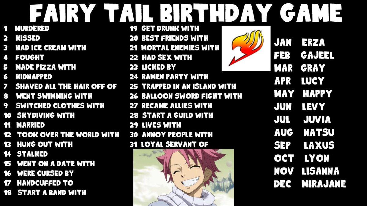 Fairy Tail Birthday Scenario Game