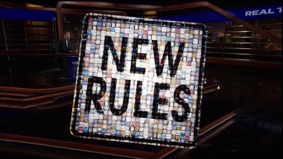 It's time for #NewRules! https://t.co/JhKJyIqxTl