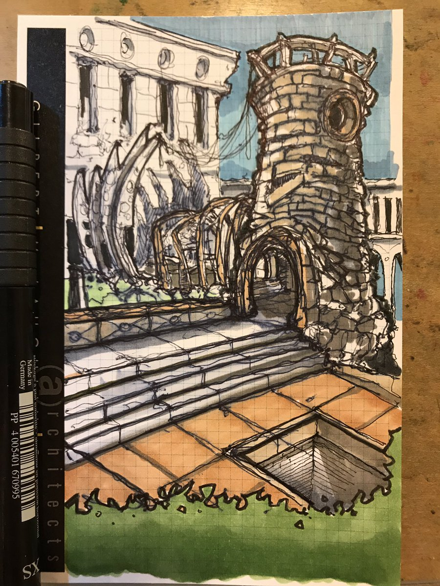 #Friday night #twisted #architecture #sketch #drawing #illustration #doodlebags #nashville #castle #art<br>http://pic.twitter.com/4CVbEFiN37