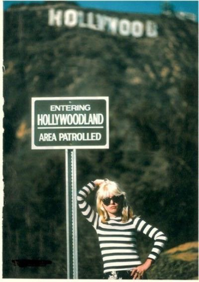 Made it safe to go west. Happy Birthday to punk icon/fashion powerhouse Debbie Harry!