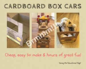 Cardboard Box Cars for Toddlers & Teddys!