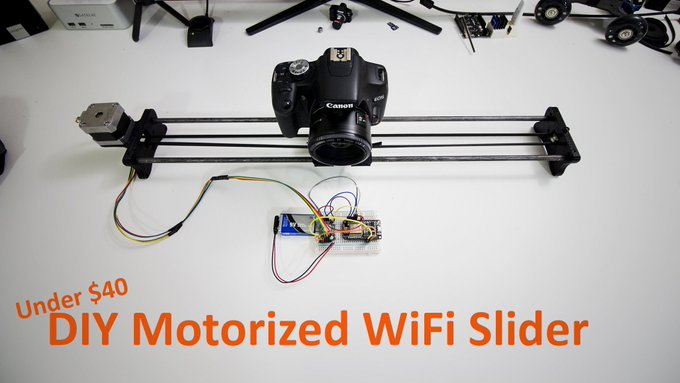 DIY Motorized Wifi Camera Slider w/ ESP8266