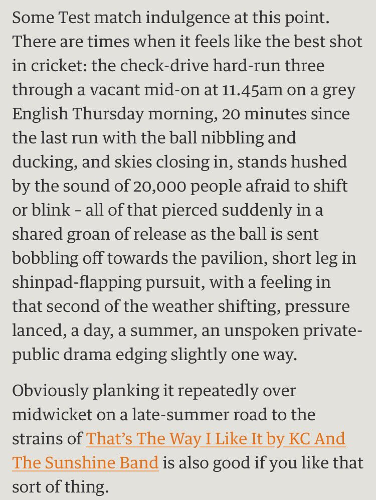 Why we love test #cricket summarised here by @barneyronay.   @BenHCarrington, you'll like this. https://t.co/aImgBkrwcb