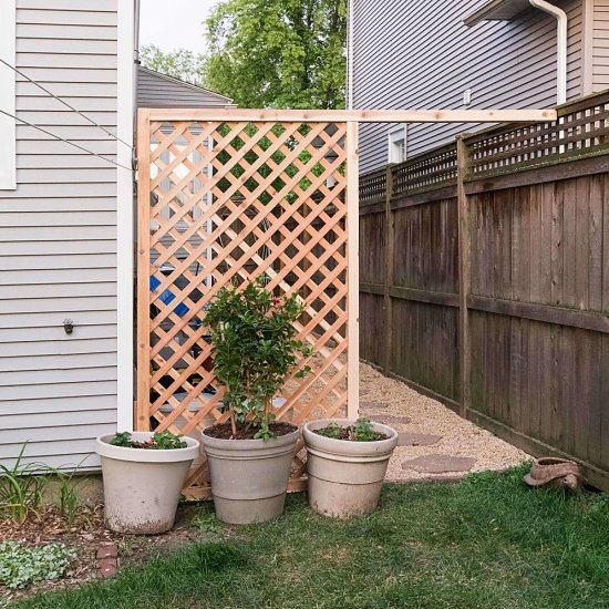 Simple DIY Trellis Screen